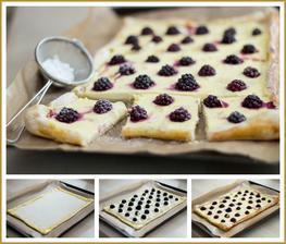Do třetice ostružiny... Listový koláč s tvarohem a ostružinami