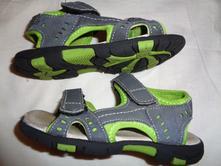 Šedozelené kožené letní sandále, 28