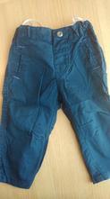 Tmavě modré plátěné kalhoty, zn. c&a, vel. 74, c&a,74