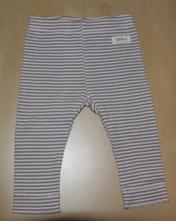 Kalhoty s bílobéžovým proužkem, krajkový lem, kappahl,68
