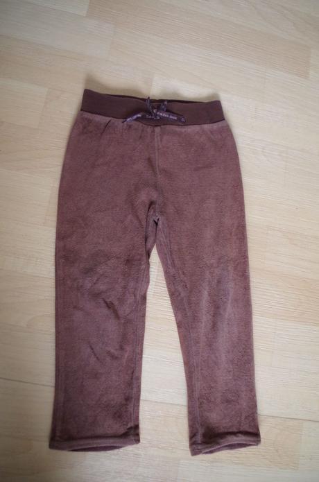 Kalhoty sametové hnědé, calvin klein,98