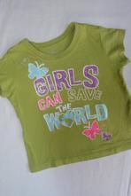 Motýlkové tričko girls can save the world, 80
