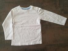 Bílé triko s dlouhým rukávem, c&a, vel. 92, c&a,92