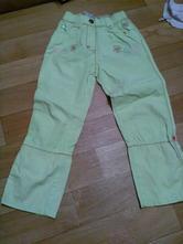 Světle zelené dívčí rolovací kalhoty vel. 104, glo-story,104