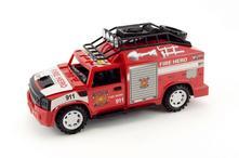 Auto hasiči na setrvačník na baterie se zvukem,