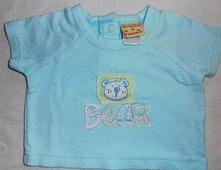 034.tyrkysové tričko s medvídkem 0-3 měs., 56