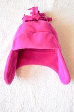Růžová čepička/ušatka, f&f,86