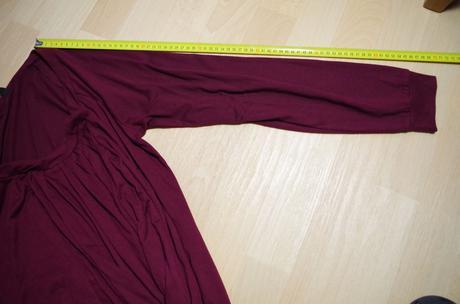 Tričko s dl. vínové, lze i v těhotenství, m