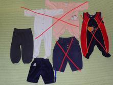 Dětské kalhoty vel.52-74. 15kč/ks, 74