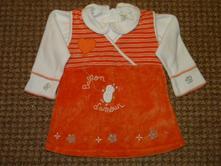 Sametové šaty + tričko vel.86 zn.bambino, bambino,86