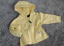 Žlutá mikina s kapucí na zip bavlna, next,86