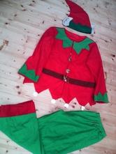 Vánoční skřítek, pomocník, set, kostým,
