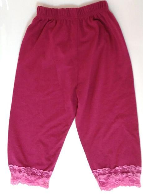 E265 - 3/4 tenké s krajkou fialové, 116