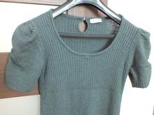 Tmavě zelené pletené šaty/tunika, pimkie,s