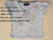 Tričko zn. kiddy love, 86