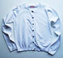 Bavlněný, propínací svetr, next,140