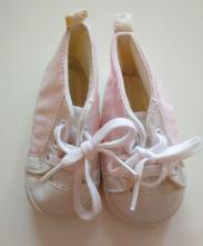 Látkové capáčky, růžovo bílé, 10 cm, <17