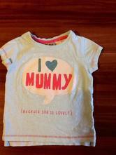 """Tričko s nápism """"i love mummy"""", next,68"""