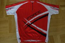 Cyklistický dres force xxl červený, xxl