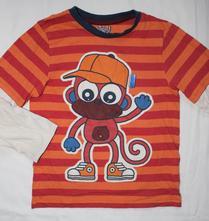 Ag181. pyžamové tričko s opicí 7-8 let, marks & spencer,128
