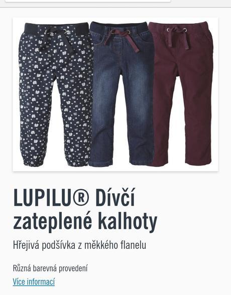 Zateplené kalhoty, lupilu,92