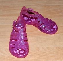 Dívčí růžové boty sandálky do vody s glitry ec710b6099