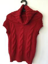 Červený svetr s rolákem stradiarius, stradivarius,s