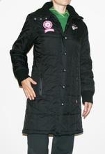 Prošívaná černá zimní bunda xs, 36