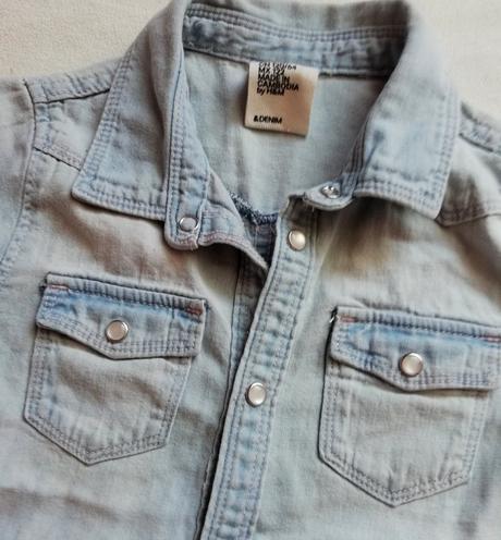 Bavlněná džínová košile h&m, h&m,122