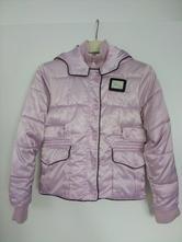 Metalická zimní bunda+ čepice benetton + rolák, benetton,140