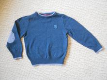 Modrý svetr se šedým pruhem, h&m,110