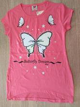 Bavlněné tričko s flitrovým motýlkem, 128 / 134 / 140 / 146 / 152