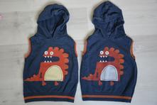 2x vesta s dráčkem třeba pro kluky dvojčata, next,98