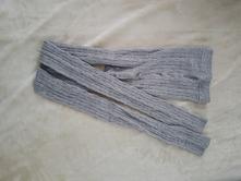 Šedé pletené legíny punčocháče tcm 146/152, tcm,146