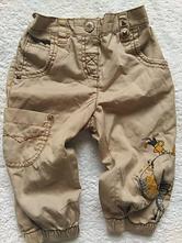 Béžové kalhoty  3/4 se slonem, next,98