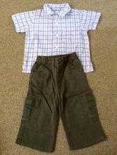 Setík - kalhoty a košile s kr rukávem, morris mouse,80