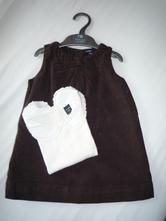 Šaty, tričko s límečkem a punčocháče, gap, gap,80