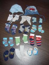 Čepičky a ponožky - sada pro kluka,