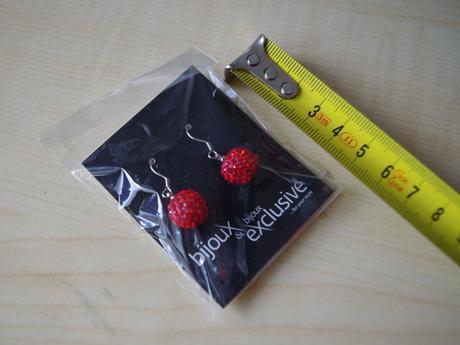 Naušnice kuličky červené bijoux exclusive ,