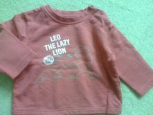 Mikina červená s lvíčkem, c&a,68