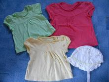 Set triček a čepičky, mothercare,68