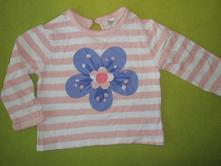 Pruhované triko s kytičkou, f&f,74