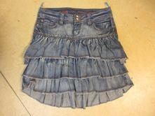 V485    riflová sukně vel. 38, 38