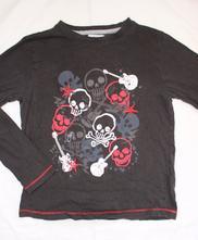 Ak43. pyžamové tričko s lebkami 9-10 let, f&f,140