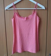 Růžové krajkové tričko tílko růžový top amisu, amisu,s