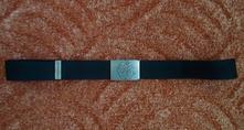 Černý textilní pásek opasek sam,