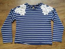 Pruhované teplejší triko, george,146