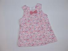 P267 růžové květované šaty vel. 68, h&m,68
