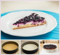 Zdravější dezert - Tvarohový koláč s borůvkami