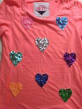 Bavlněné neon tričko next se srdíčky , next,128